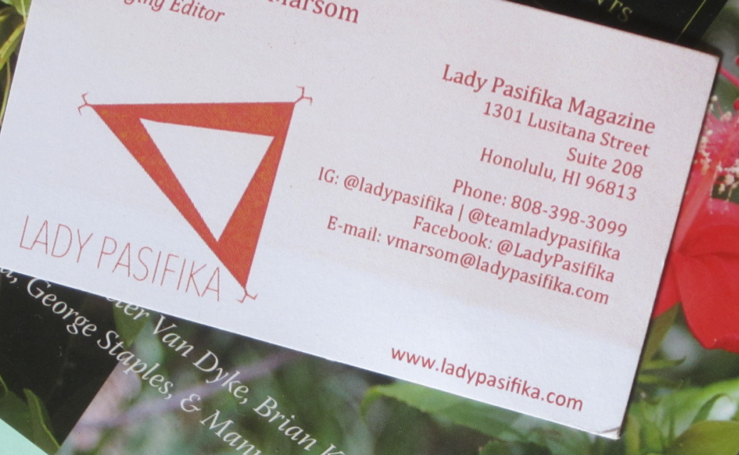 Lady Pasifika Business Card